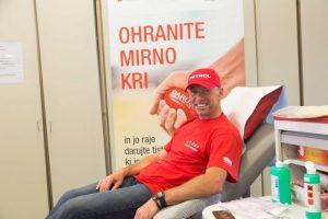 Miran Stanovnik pred darovanjem krvi